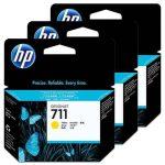 HP No. 711 Yellow 3 darabos patron csomag (29 ml)