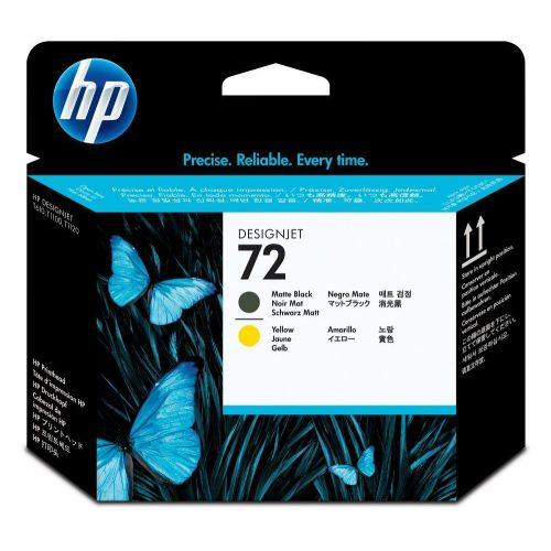 HP No. 72 Matte Black and Yellow nyomtatófej