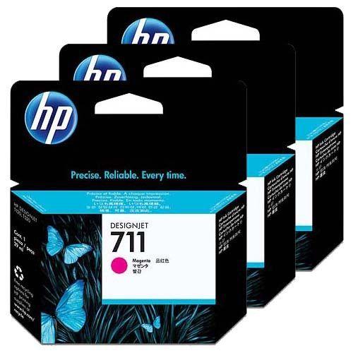 HP No. 711 Magenta 3 darabos patron csomag (29 ml)