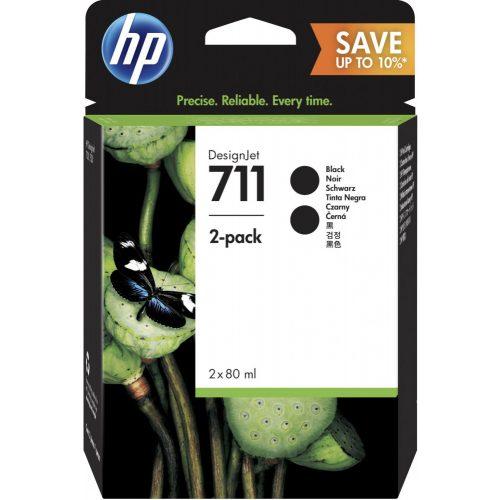 HP No. 711 Fekete patron, dupla csomag (2x80 ml)